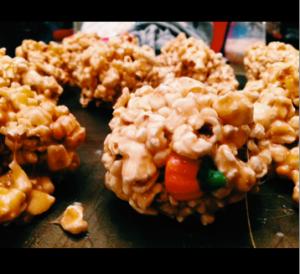 Popcorn balls: my Halloween indulgence.